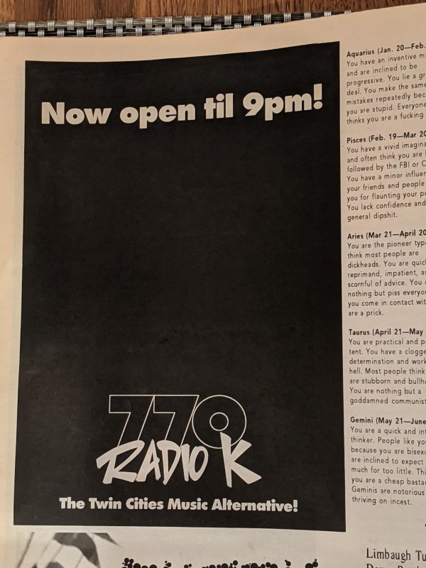 Radio Reception Ads: Cake Magazine #25, 1994
